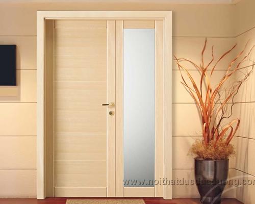 Vật liệu làm cửa gỗ: Veneer, MFC (  gỗ phủ melamine), Laminate