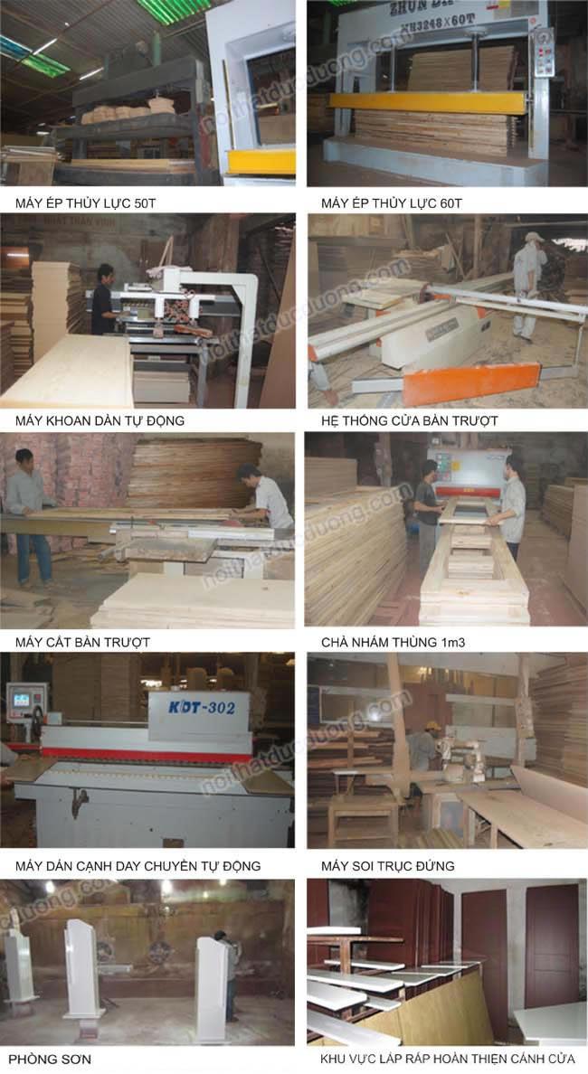 quy trình sản xuất cửa gỗ