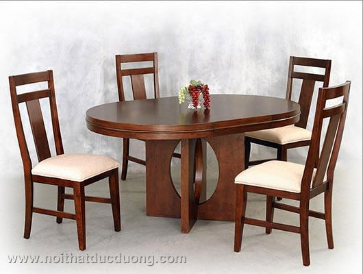 Bộ bàn ăn gỗ xoan đào 03