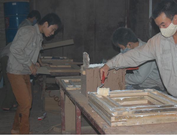 cửa gỗ ghép thanh 01