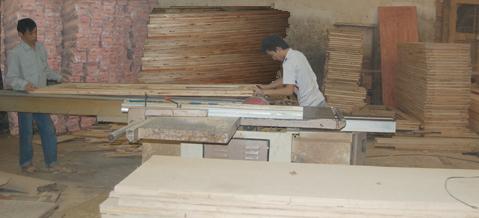 sản xuất cửa gỗ ghép thanh 05