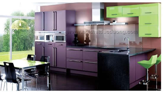Design tủ bếp Laminate 01