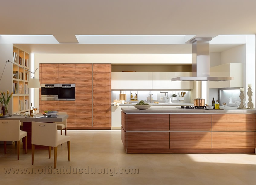 Tủ bếp gỗ công nghiệp
