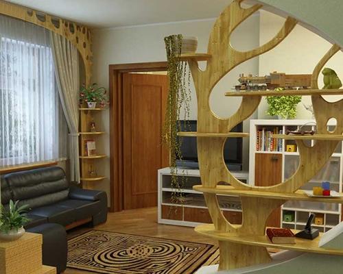 Vách gỗ nghệ thuật