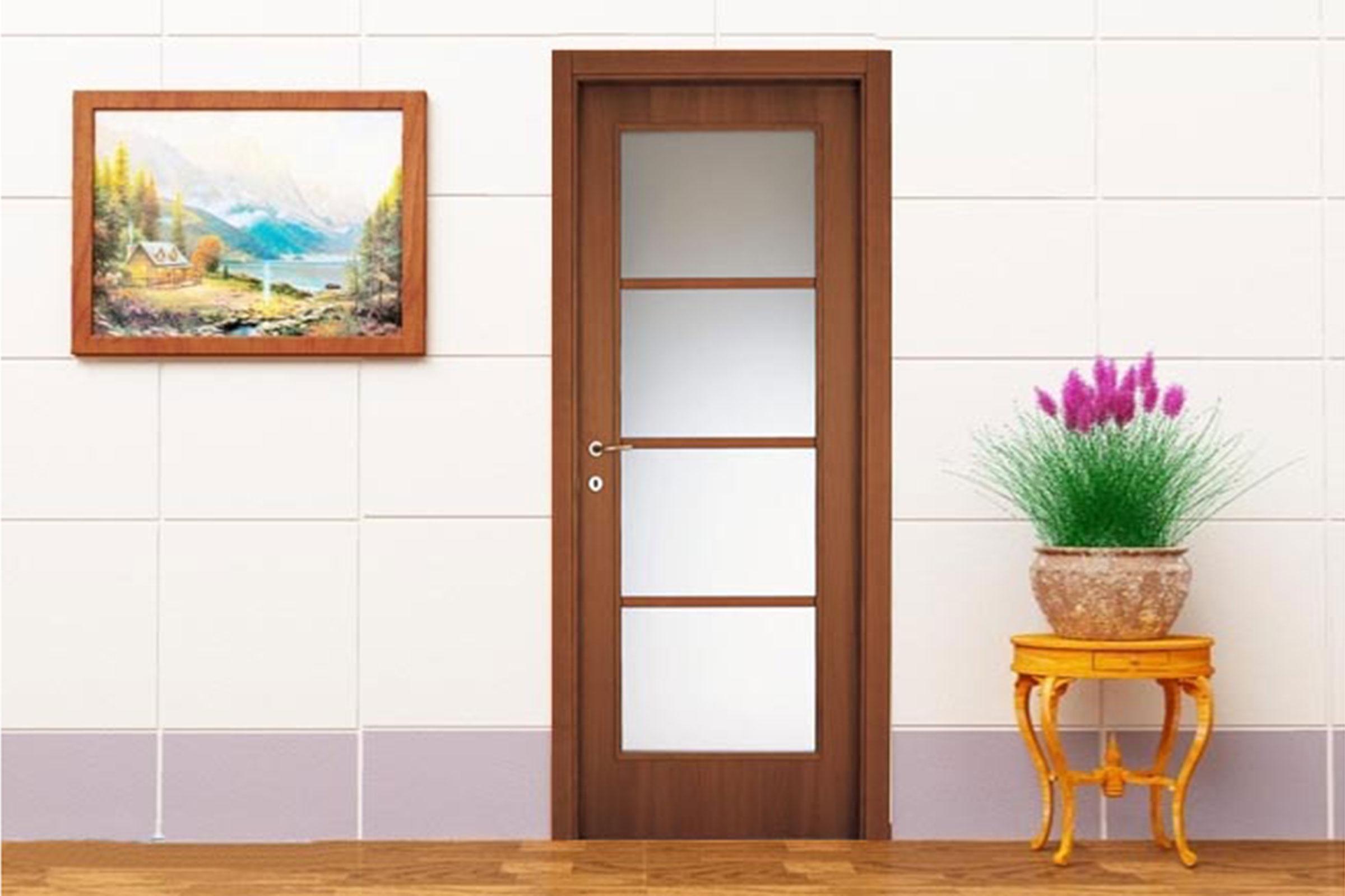 Cửa gỗ veneer Sồi 03
