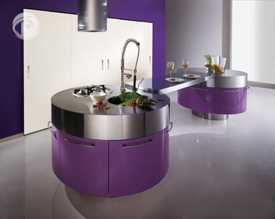 Mẫu tủ bếp đẹp 2012