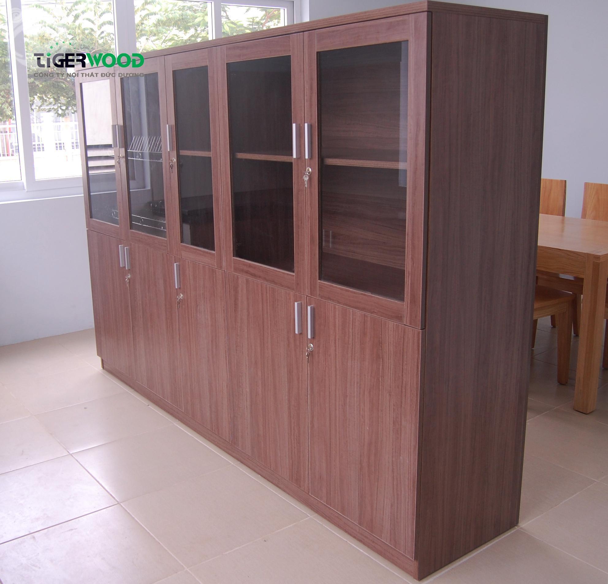 Tủ tài liệu gỗ công nghiệp phủ Melamine