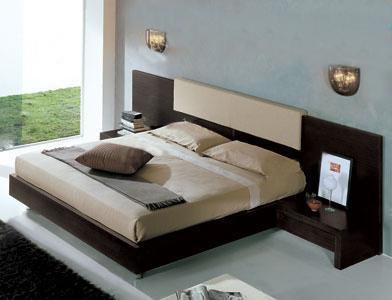 Giường ngủ hiện đại gỗ Veneer