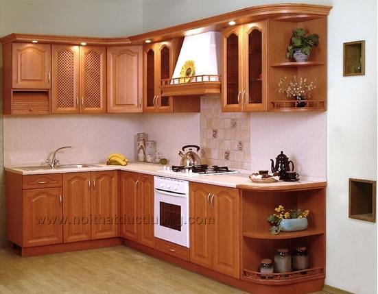 Tủ bếp gỗ Xoan đào Design 10