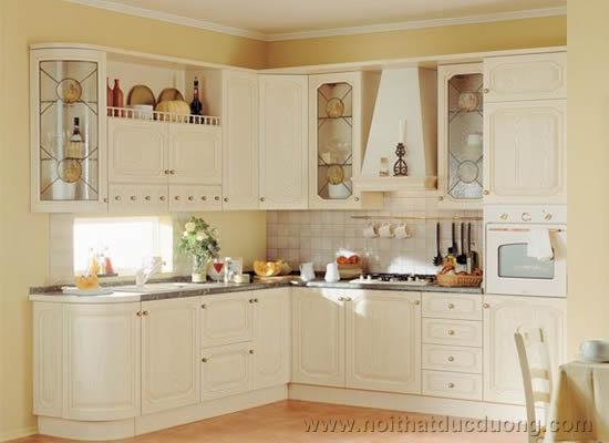 Design tủ bếp gỗ Sồi 07