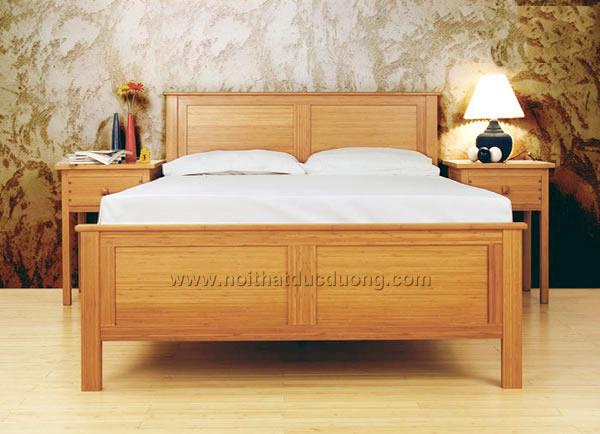 Giường ngủ gỗ veneer dổi 09