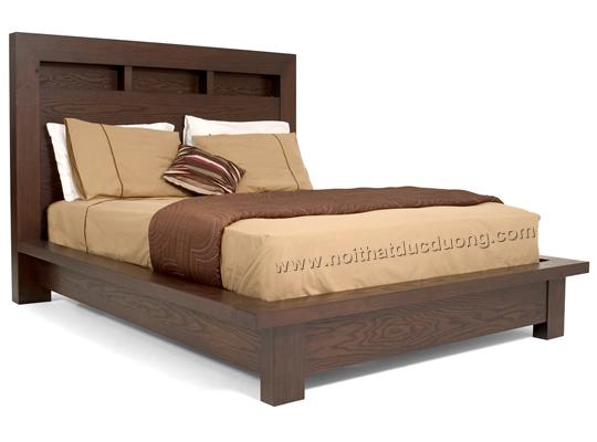 Giường ngủ gỗ veneer sồi cách tân 17