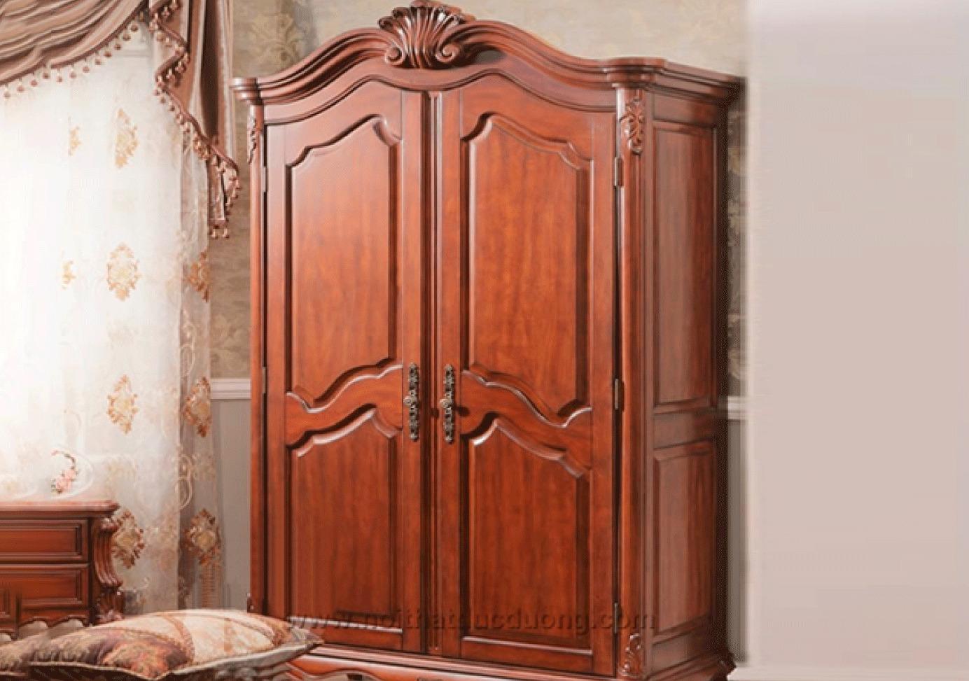 Tủ quần áo gỗ xoan đào 023