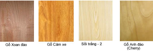 Một số bề mặt gỗ tự nhiên tham khảo
