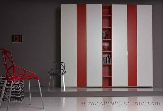 Tủ quần áo gỗ công nghiệp sơn màu 033