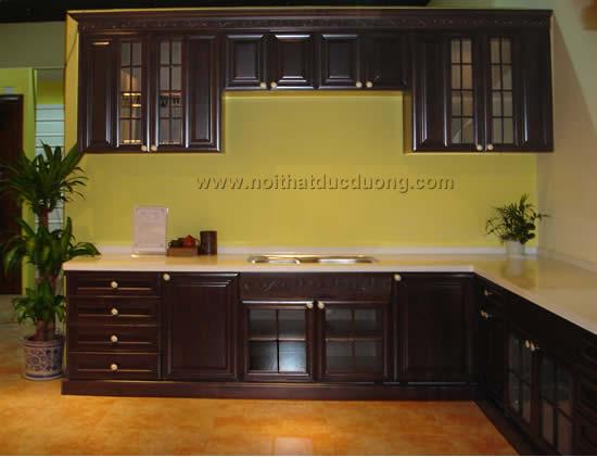 Tủ bếp gỗ Lim sang trọng 11