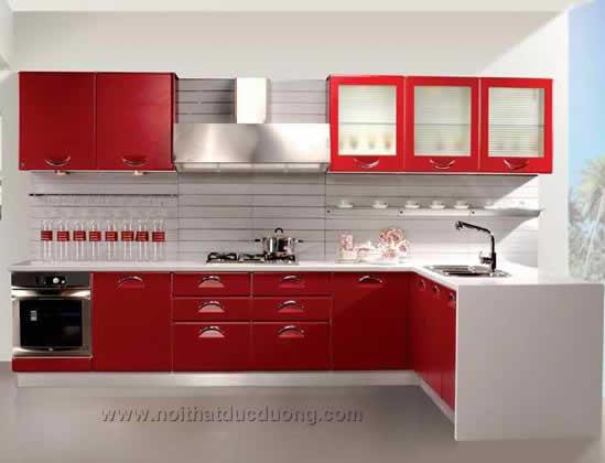 Không gian sáng bóng với tủ bếp Highgloss Acrylic