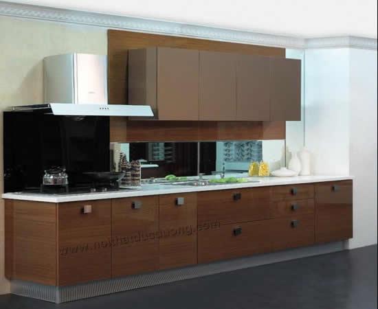 Tủ bếp highgloss màu nâu 14