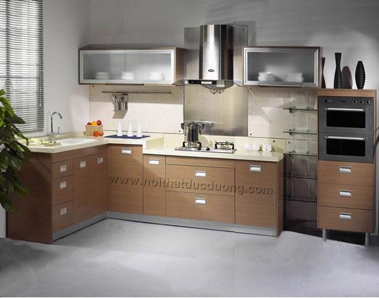 Tủ bếp veneer xoan đào 08