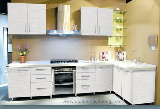 Tủ bếp Laminate vân sáng 26