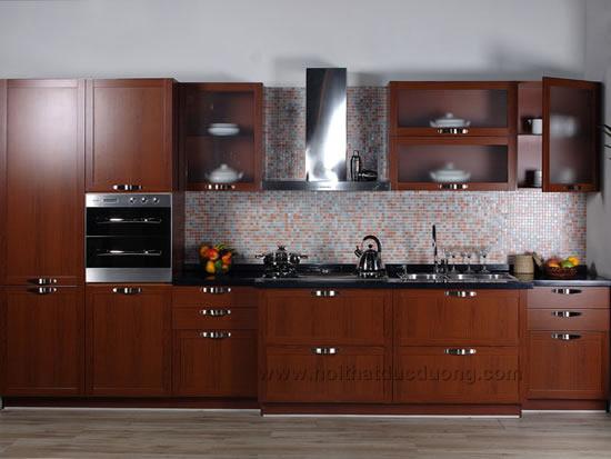 Tủ bếp veneer Lim 09