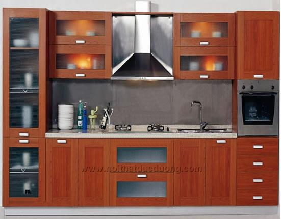 Tủ bếp veneer xoan đào 16