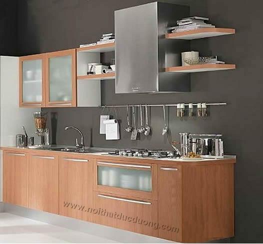 Tủ bếp veneer xoan đào 17