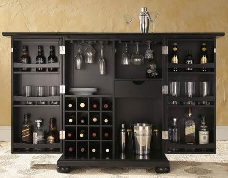 Tủ rượu gỗ ghép thanh sơn màu 10