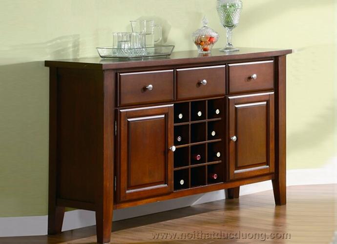 Tủ rượu trưng bày phòng khách gỗ lim tự nhiên 07