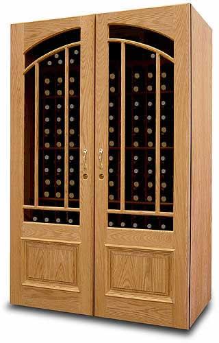 Tủ rượu gỗ sồi nhiều ngăn 01