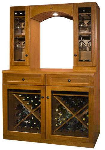 Tủ rượu gỗ veneer dổi 03