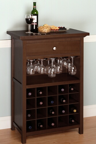 Tủ rượu mini phòng khách 06 tiện dụng