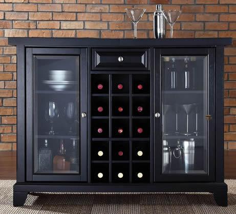 Tủ rượu màu đen sang trọng 08
