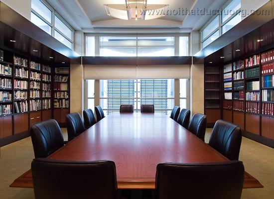 Bộ bàn ghế phòng họp chữ nhật lớn 09