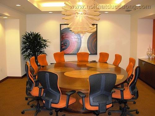Bộ bàn ghế phòng họp hình tròn 06