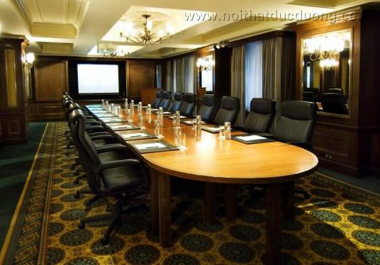 Bộ bàn ghế phòng họp dáng dài 08