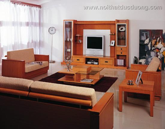 Phòng khách với các mảng hình khối đồng nhất – M07