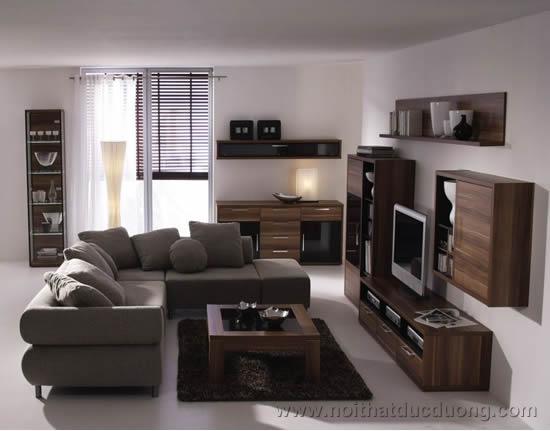 Nội thất phòng khách sử dụng vật liệu Laminate – M08