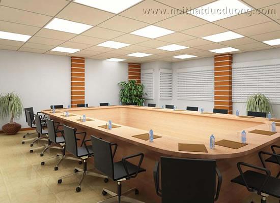 Bộ bàn ghế phòng họp dáng quây 11