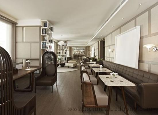 Design không gian cafe cho khách sạn sang trọng
