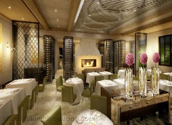 Design nhà hàng với nội thất mang màu sắc mettalic