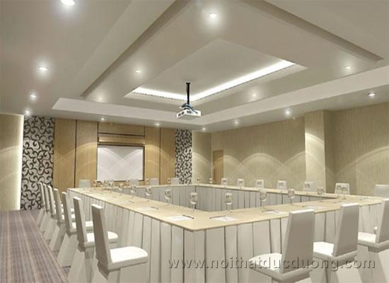 Design Phòng họp cùng nội thất sáng màu