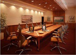 Phòng họp nổi bật với nội thất gỗ veneer