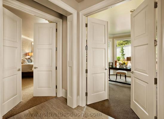 Cửa gỗ tấm da HDF – Veneer, cửa gỗ hdf