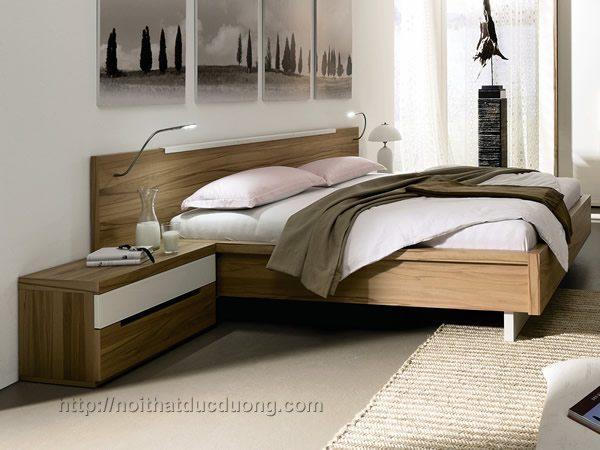 Giường ngủ gỗ laminate vân gỗ 33