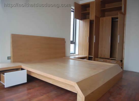 Giường ngủ gỗ sồi tự nhiên 22