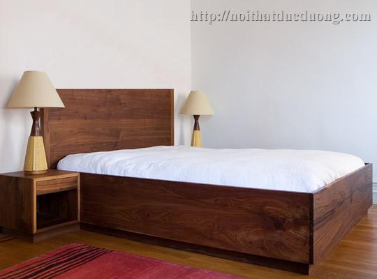 Giường ngủ hộp gỗ veneer óc chó 31