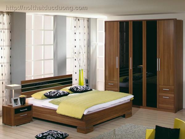 Giường ngủ gỗ veneer kết hợp laminate 34