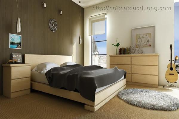 Giường ngủ gỗ veneer sồi đẹp 35