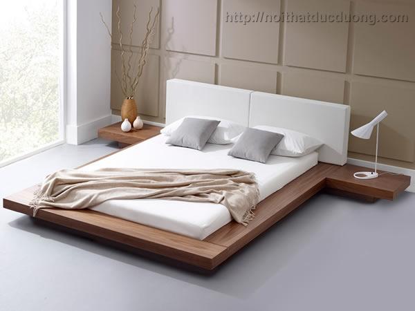 Giường ngủ gỗ veneer phong cách Nhật 36